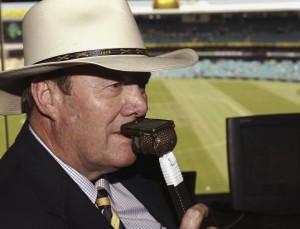 SYDNEY, AUSTRALIA - JANUARY 22:  Nine Network Commentator Tony Greig at the SCG on January 22, 2004 in Sydney, Australia. (Photo by Hamish Blair/Getty Images)