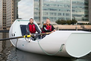 Launch of Indian Ocean rowing challenge with Epileptic Scout Volunteer Ashley Wilson, and Scouting Ambassador Adventurer James Ketchell